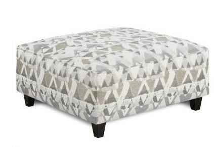 Fusion Furniture 109 Square Ottoman - Item Number: 109MOUNTAIN VIEW CEMENT