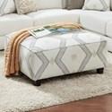 Fusion Furniture 109 Square Ottoman - Item Number: 109Ponderosa Parchment