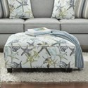 Fusion Furniture 109 Square Ottoman - Item Number: 109Savanah Ocean