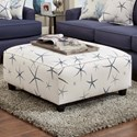 Fusion Furniture 109 Square Ottoman - Item Number: 109Sea Star Admiral