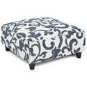 Fusion Furniture 109 Square Ottoman - Item Number: 109Sonata Navy