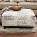Fusion Furniture 109 Square Ottoman - Item Number: 109Sunset Beach Sand