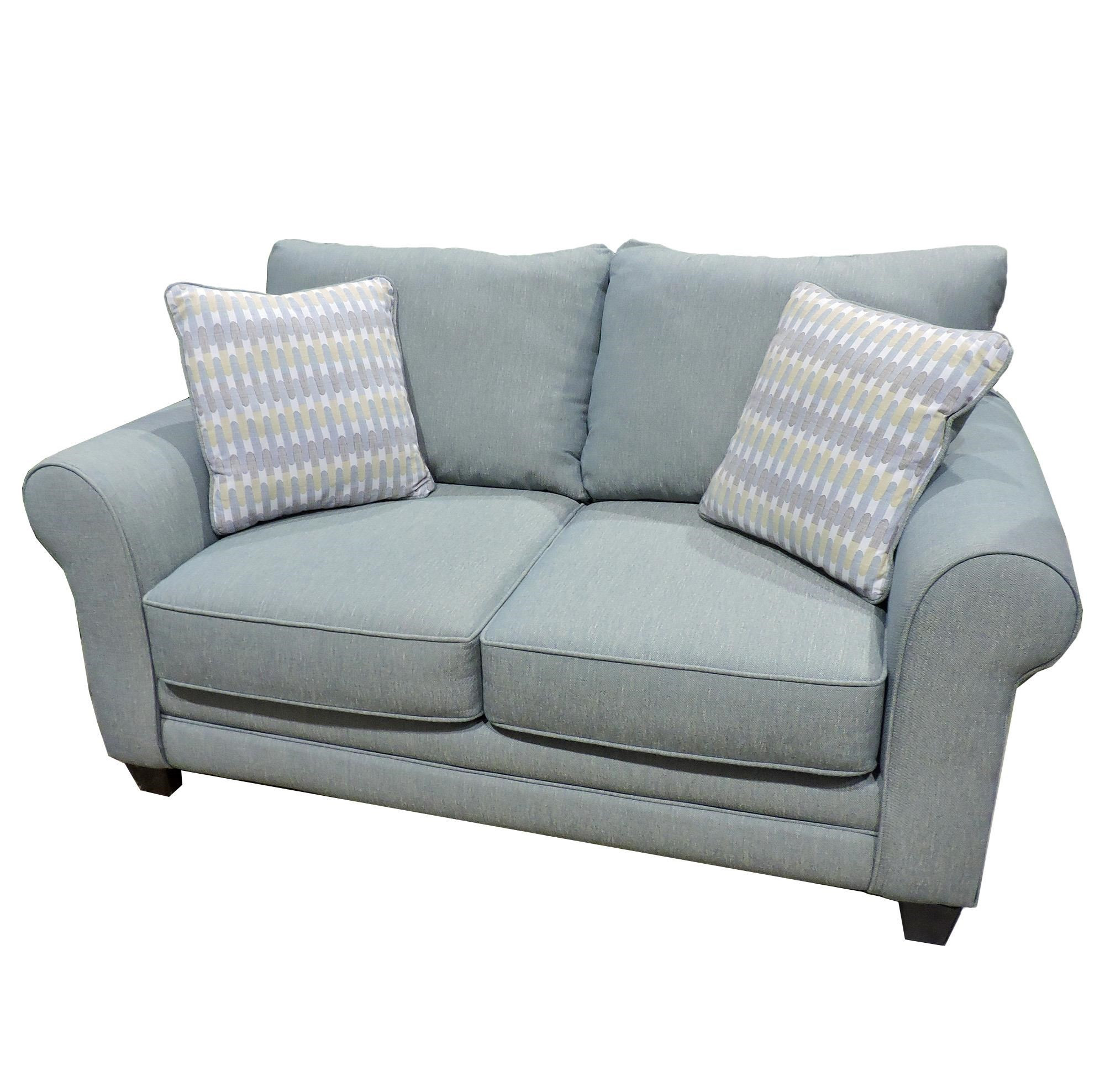 Fusion Furniture Candy Loveseat with Accent Pillows - Item Number: 1141