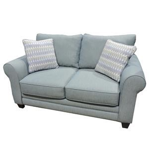 Fusion Furniture Candy Loveseat with Accent Pillows