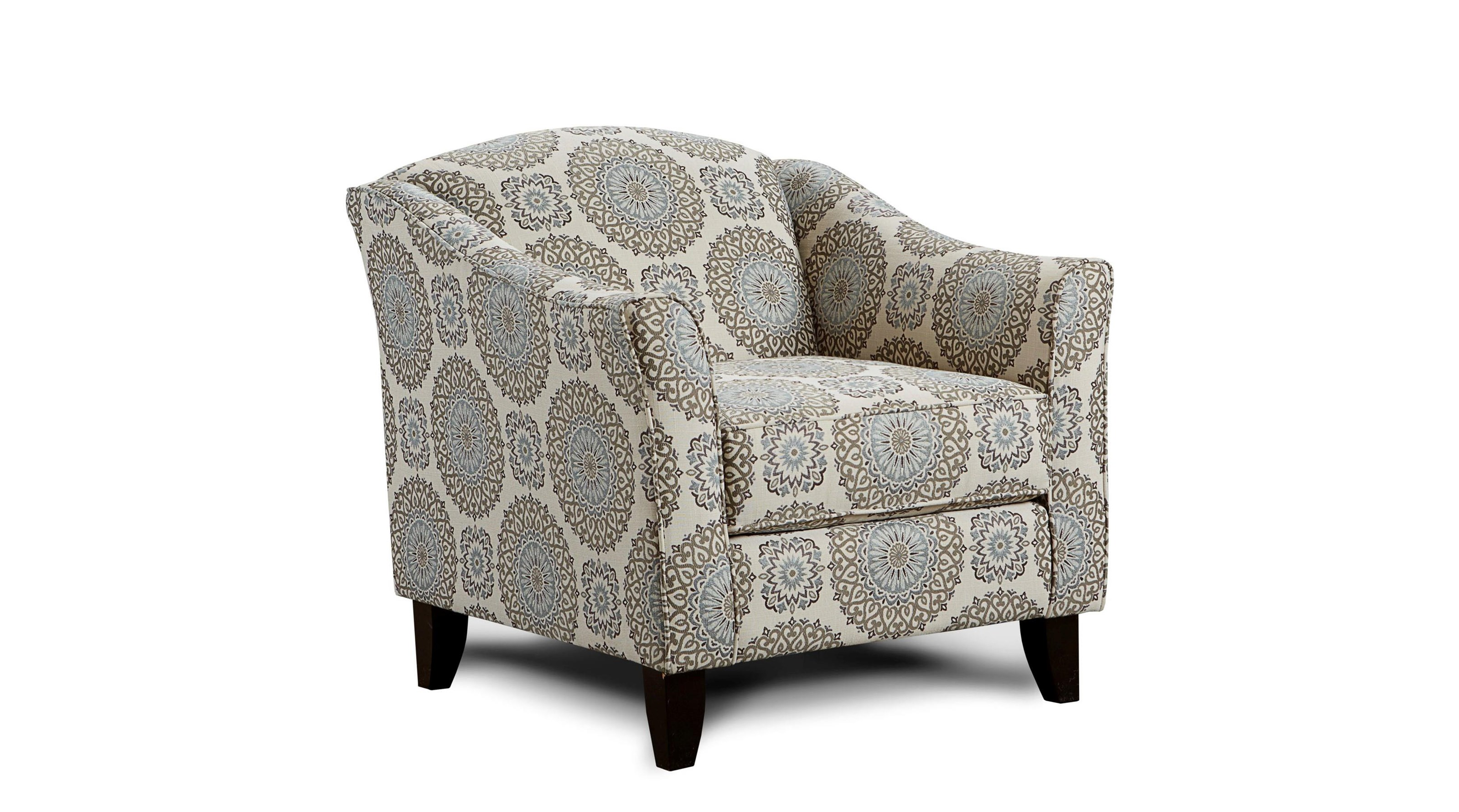 Fusion Furniture Grande Mist Brianne Twilight Accent Chair - Item Number: 452 BRIANNE-TWILIGHT