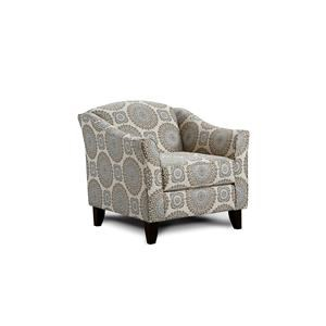 Fusion Furniture Grande Mist Brianne Twilight Accent Chair