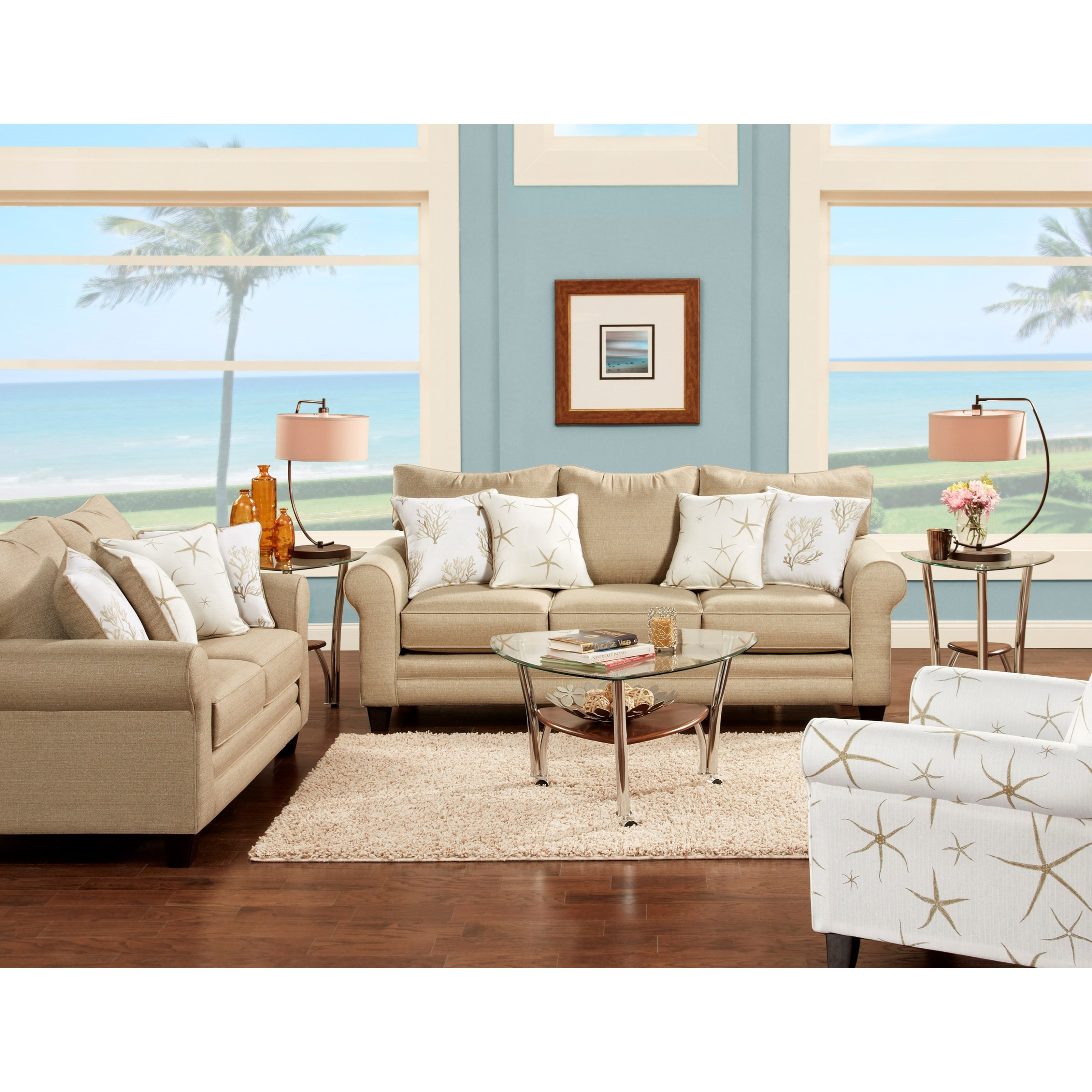 Fusion Furniture 1140 Stationary Living Room Group - Item Number: 1140 Living Room Group 7