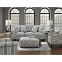 Fusion Furniture 1140 Stationary Living Room Group - Item Number: 1140 Stationary Living Group 5