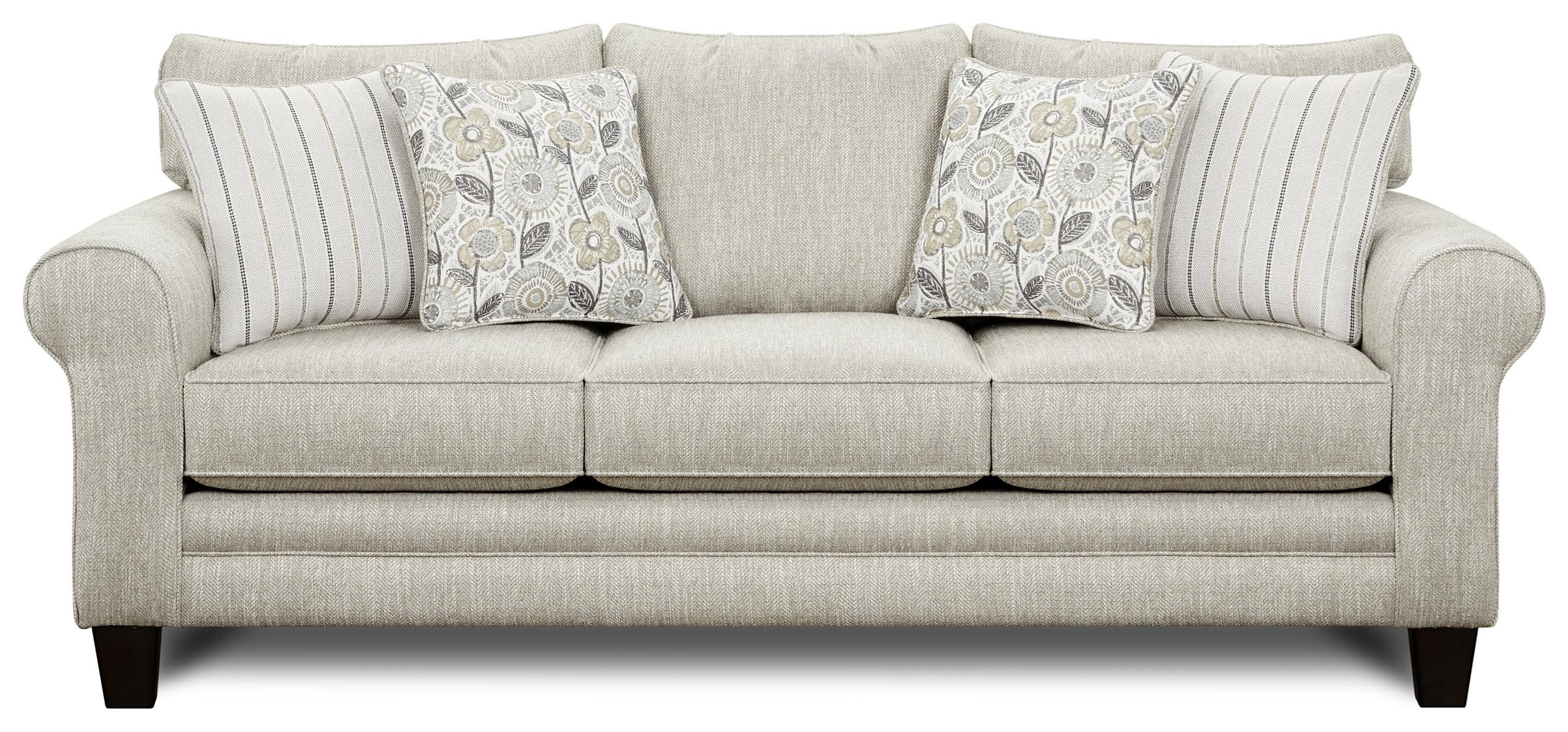 1140 Sofa w/ Accent Pillows by Kent Home Furnishings at Johnny Janosik