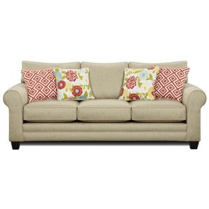 Fusion Furniture 1140 Stationary Sofa w Accent Pillows Zak s Fine Furniture Sofa Tri Cities