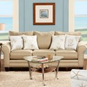 Fusion Furniture 1140 Sofa - Item Number: 1140Vibrant Linen