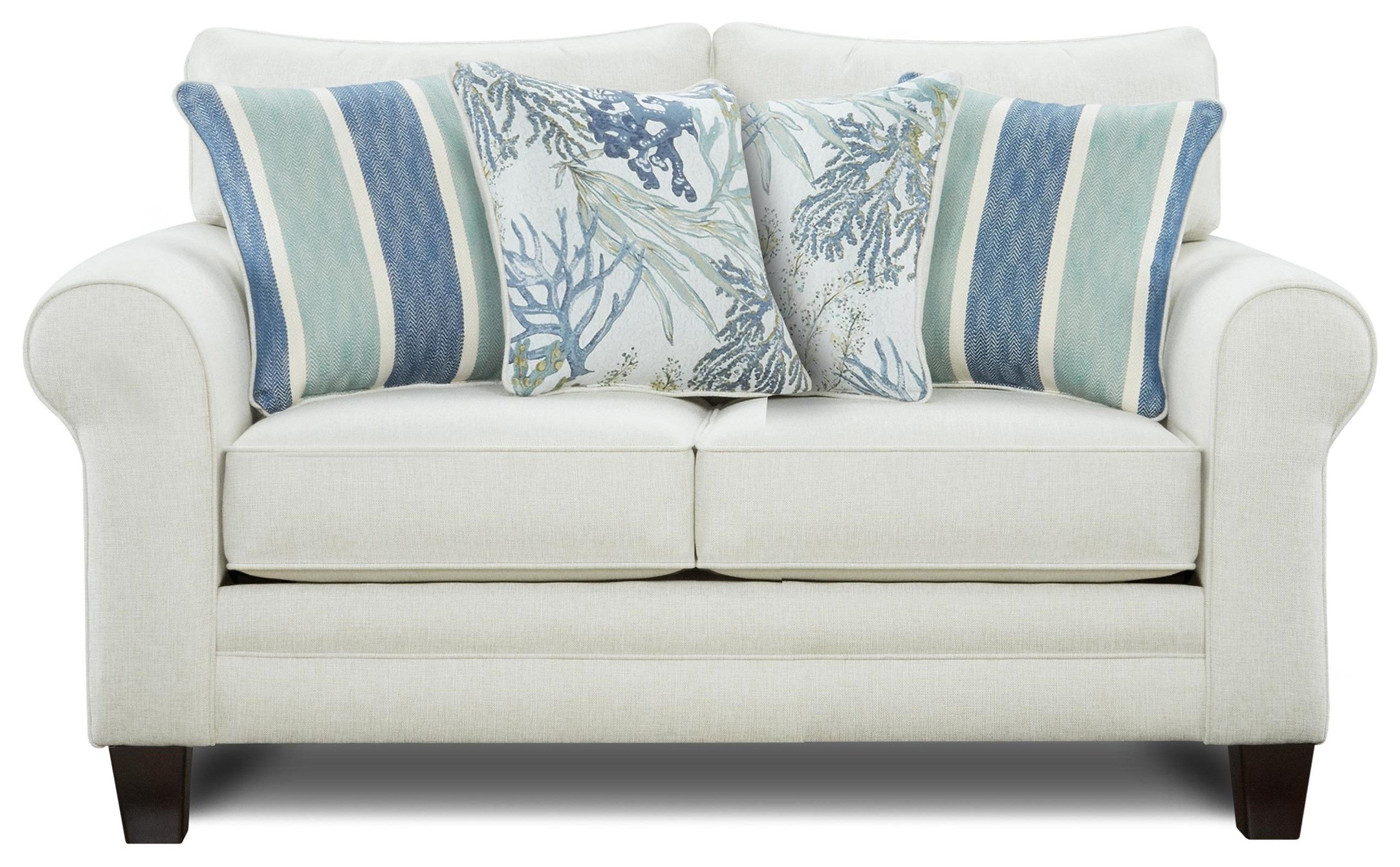 Loveseat w/ Accent Pillows