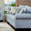 Fusion Furniture 1140 Loveseat - Item Number: 1141Labyrinth Sky