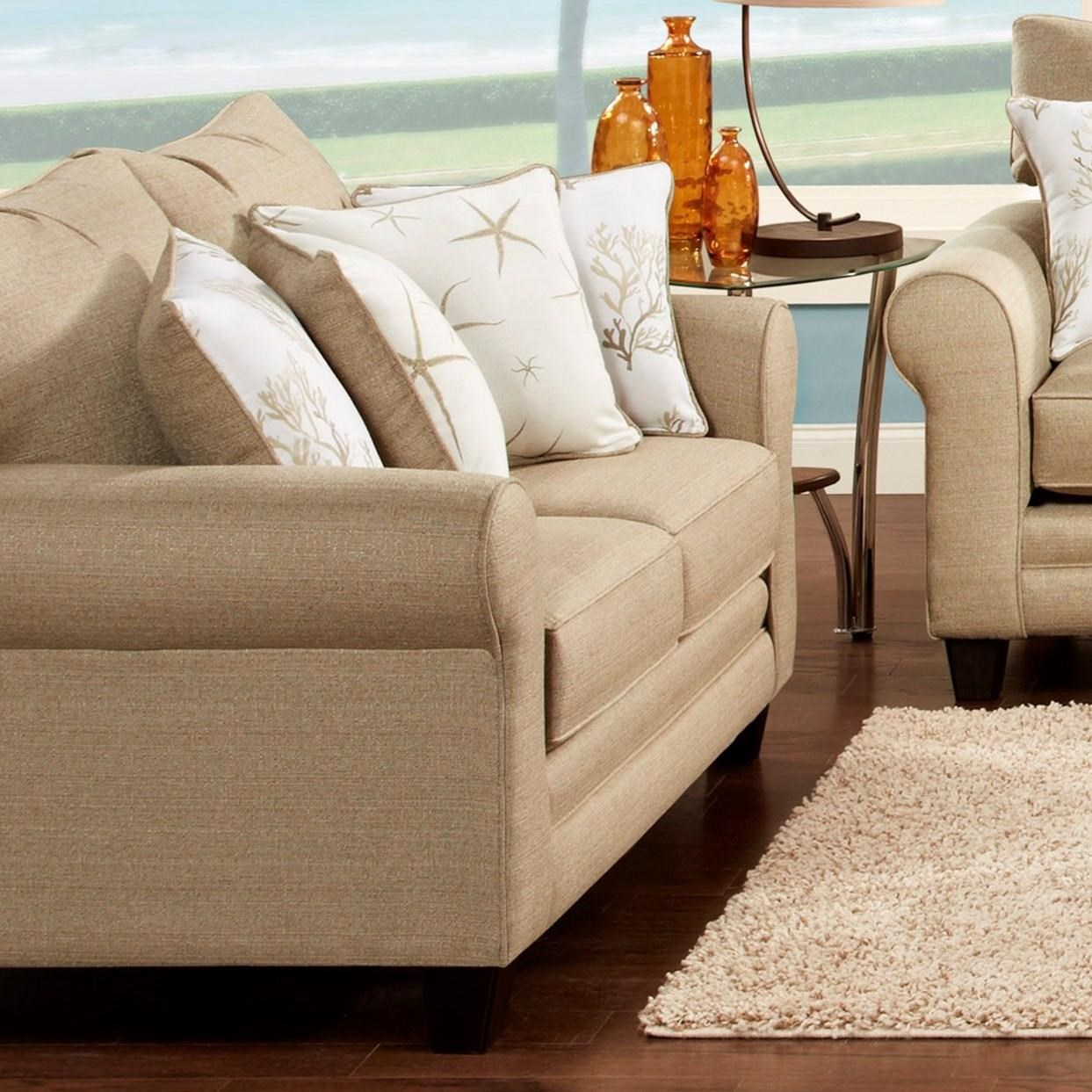 Fusion Furniture 1140 Loveseat - Item Number: 1141Vibrant Linen