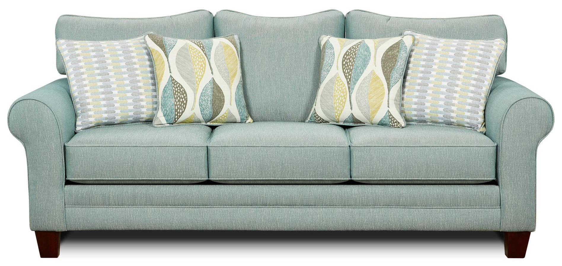 Fusion Furniture 1140 Sleeper Sofa - Item Number: 1144Decade Aqua