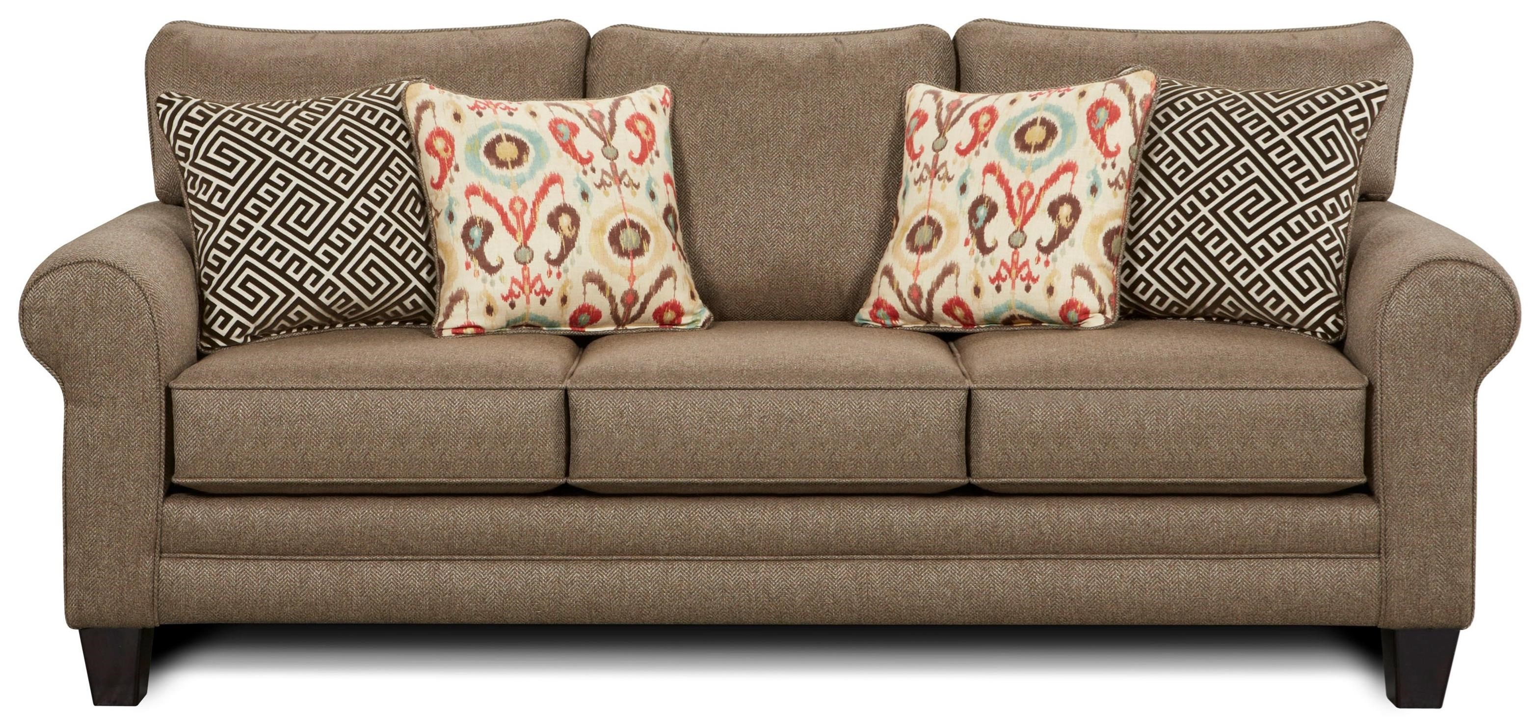 Fusion Furniture 1140 Sleeper Sofa - Item Number: 1144Romero Badger