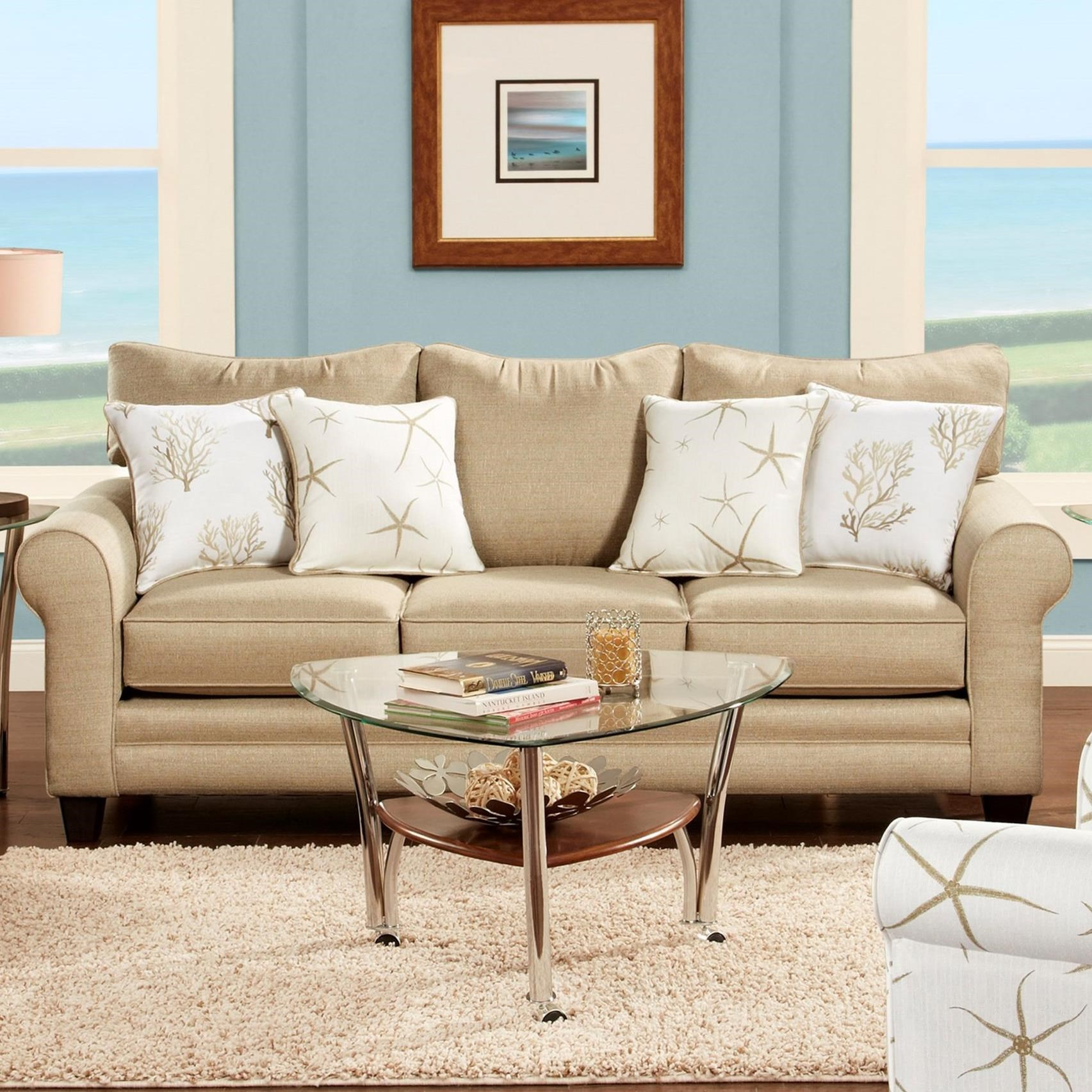 VFM Signature 1140 Sleeper Sofa - Item Number: 1144Vibrant Linen