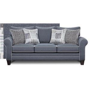 Fusion Furniture 1140Denim 1140 Denim Sofa