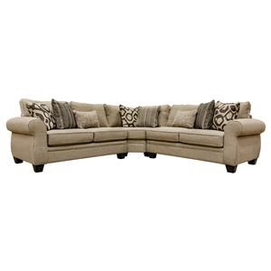 Sullivan Cigar 3-Piece Sectional