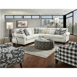 Synergy Home Furnishings 1483 Transitional 5 Seater Sectional