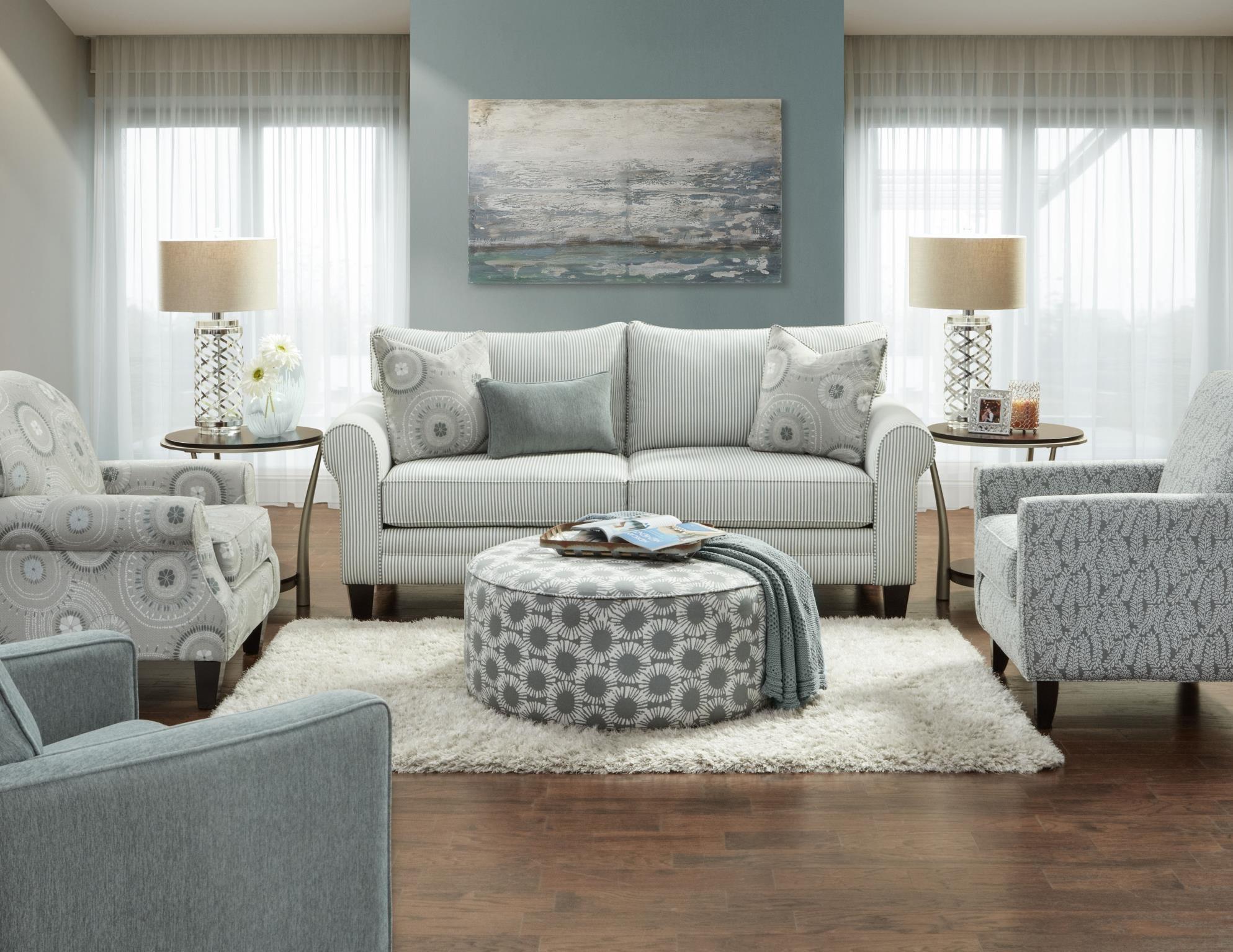 Fusion Furniture 1180 Upholstered Loveseat - Item Number: 1181lvst