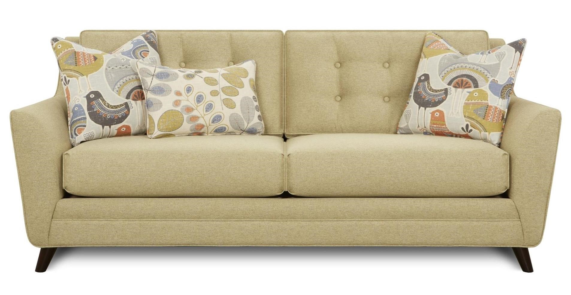 1355 Mid Century Modern Tufted Sofa by FN at Lindy\'s Furniture Company