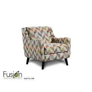 Fusion Furniture Rapids Gemstone Ismael Carnival Accent Chair