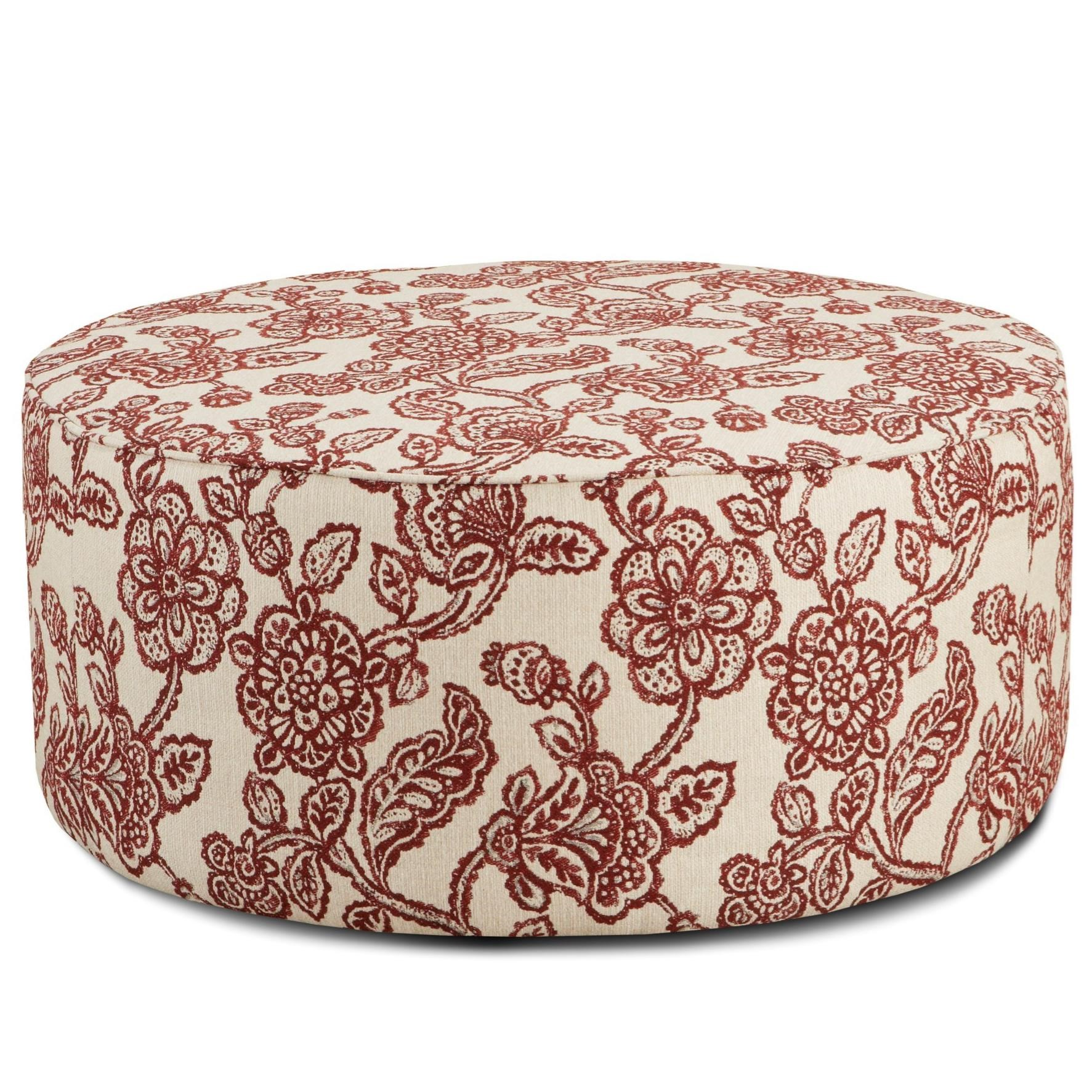 Fusion Furniture 140 Cocktail Ottoman - Item Number: 140Antoinette Crimson