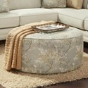 Fusion Furniture 140 Cocktail Ottoman - Item Number: 140Cherry Blossom Cornsilk