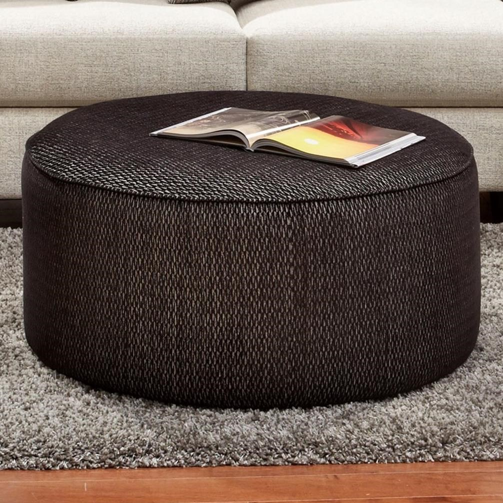 Fusion Furniture 140 Cocktail Ottoman - Item Number: 140Drake Ebony