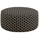 Fusion Furniture 140 Cocktail Ottoman - Item Number: 140Giverny Carbon