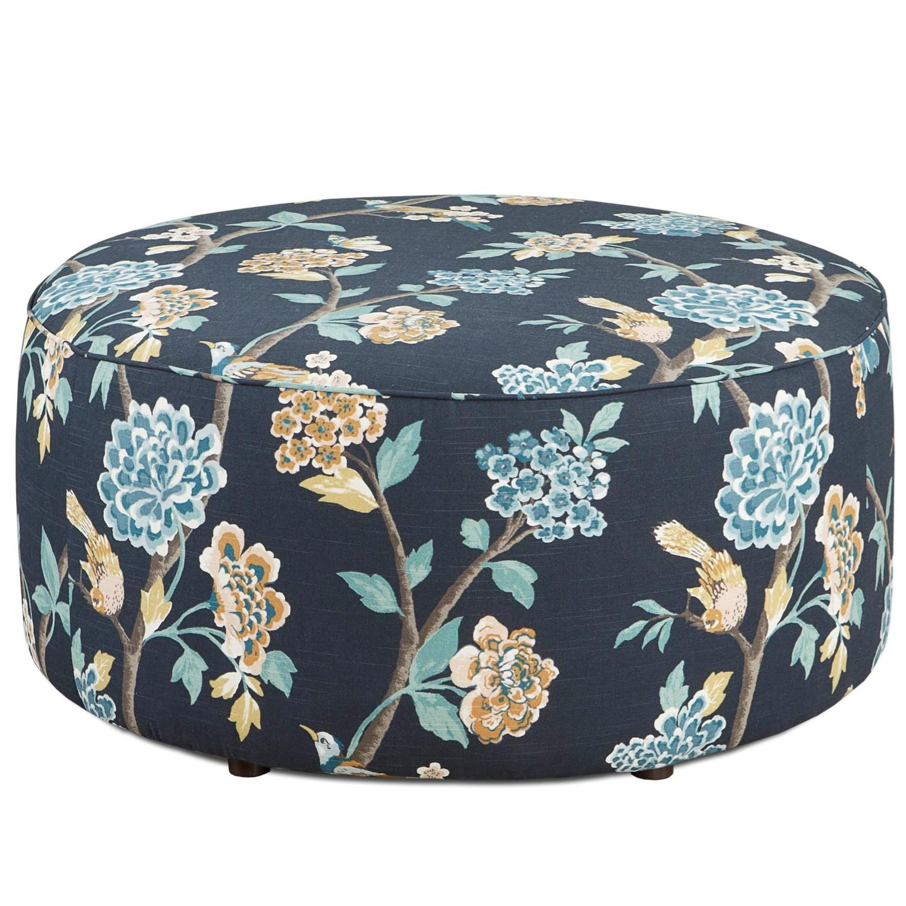 VFM Signature 140 Cocktail Ottoman - Item Number: 140Helene Floral Admiral
