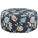 Fusion Furniture 140 Cocktail Ottoman - Item Number: 140Helene Floral Admiral