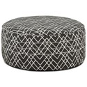 Fusion Furniture 140 Cocktail Ottoman - Item Number: 140Hyphen Onyx