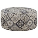 Fusion Furniture 140 Cocktail Ottoman - Item Number: 140Sambuca Cobalt