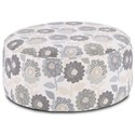 Fusion Furniture 140 Cocktail Ottoman - Item Number: 140Shasta Chambray