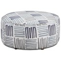 Fusion Furniture 140 Cocktail Ottoman - Item Number: 140Swag Cobalt