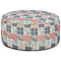 Fusion Furniture 140 Cocktail Ottoman - Item Number: 140Vintage Vibe Geranium