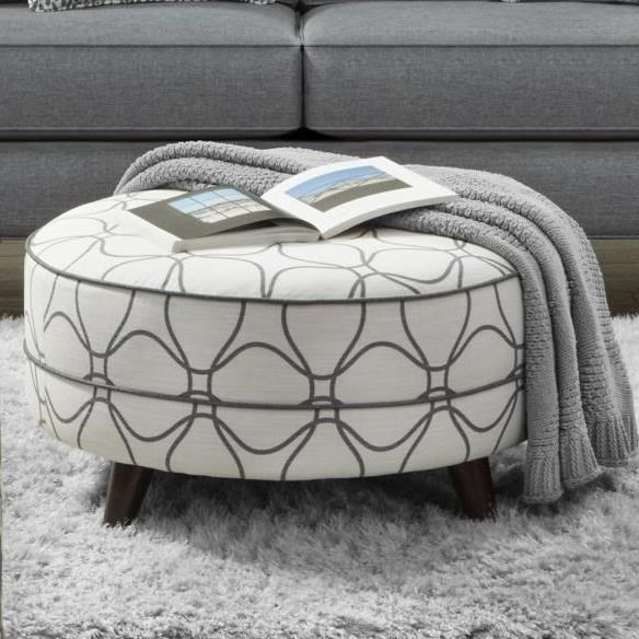 142 Cocktail Ottoman by Fusion Furniture at Miller Waldrop Furniture and Decor