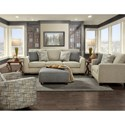 Fusion Furniture 1430 Contemporary Sofa with Nailhead Trim