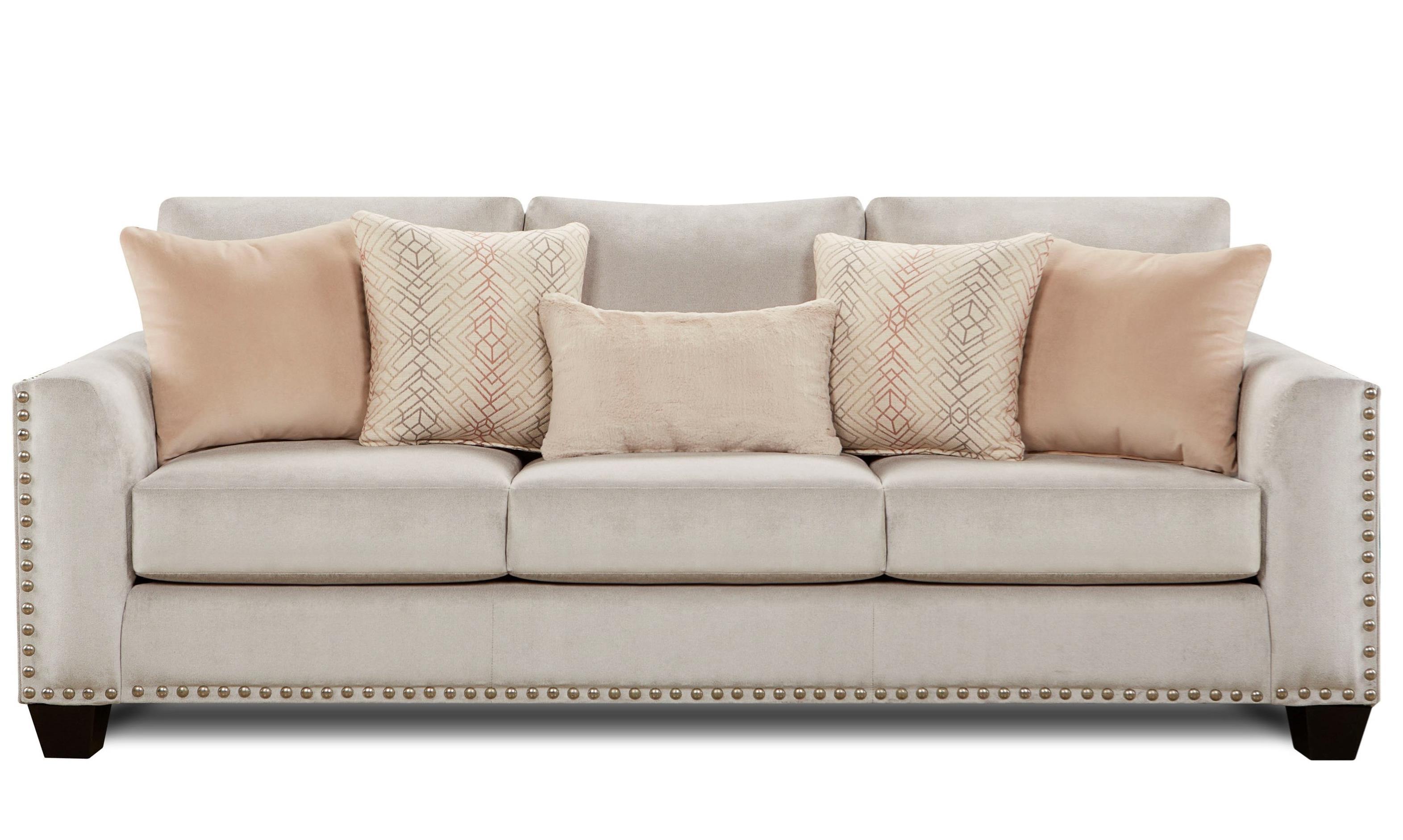 Fusion Furniture 1460 Sofa - Item Number: 1460-KPAsia Fawn Brindle