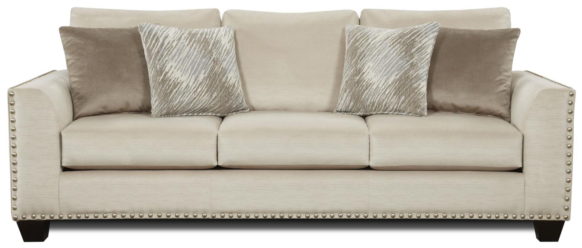 Fusion Furniture 1460 Sofa - Item Number: 1460Empire Stone