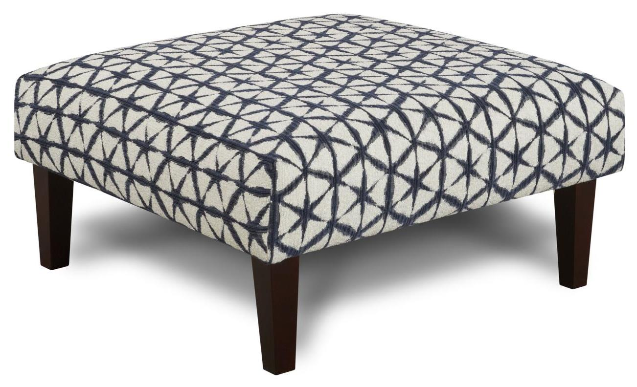 Fusion Furniture 159 Cocktail Ottoman - Item Number: 159Chai Navy