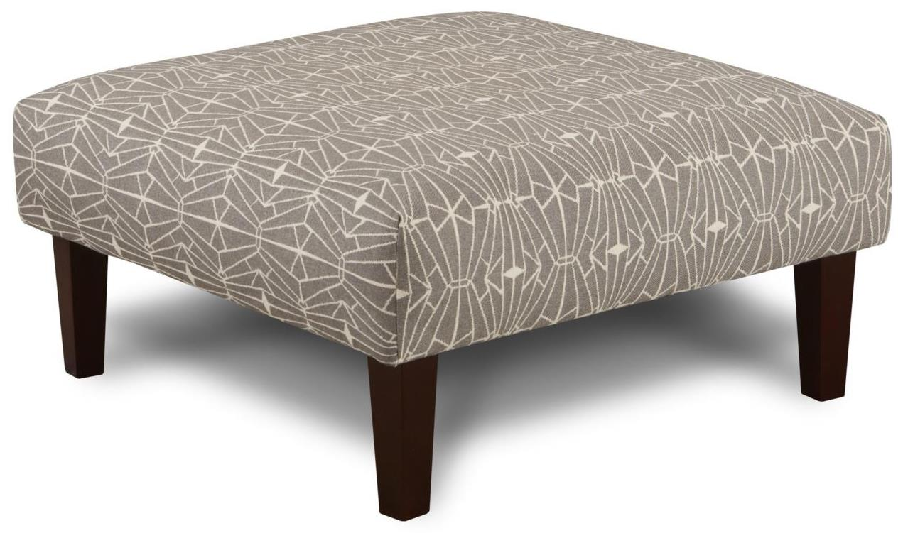 Fusion Furniture 159 Cocktail Ottoman - Item Number: 159Emblem Charcoal
