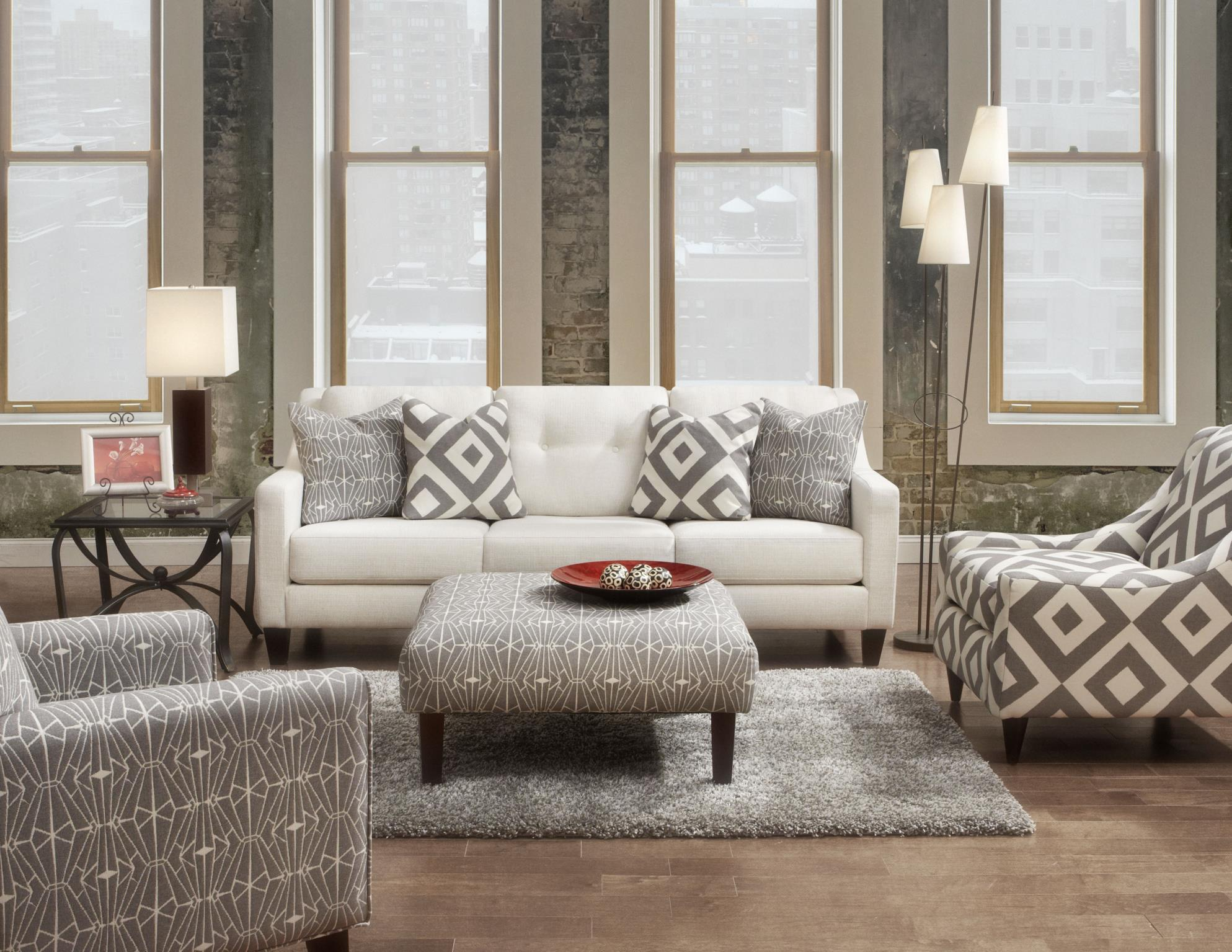 159 Contemporary Cocktail Ottoman Belfort Furniture