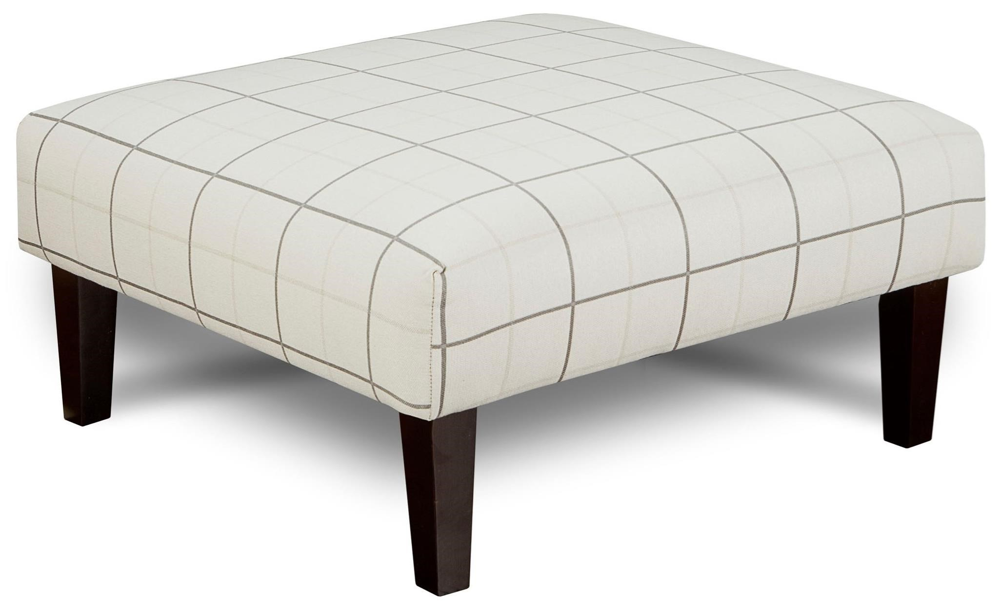 Fusion Furniture 159 Cocktail Ottoman - Item Number: 159Windowpane Chalk