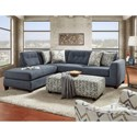 Fusion Furniture 1615 Stationary Living Room Group - Item Number: 1615 Living Room Group 4