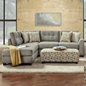 Fusion Furniture 1615 2-Piece Sectional - Item Number: 1615-26L+21RDillist Mica