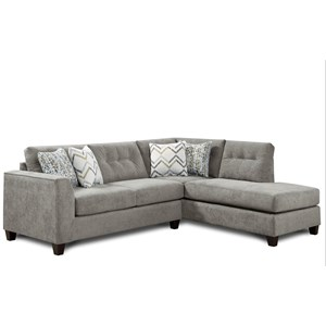 Fusion Furniture 1615 2 Piece Sectional