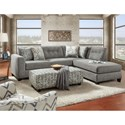 Fusion Furniture 1615 Contemporary 2 Piece Sectional with Chaise